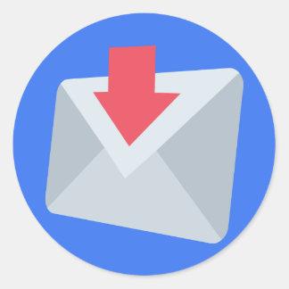 E-mail Emoji Classic Round Sticker