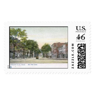 E Main St., Greenfield, MA 1906 Vintage Postage Stamps