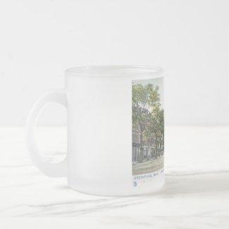 E Main St., Greenfield, Mass. 1906 Vintage mug