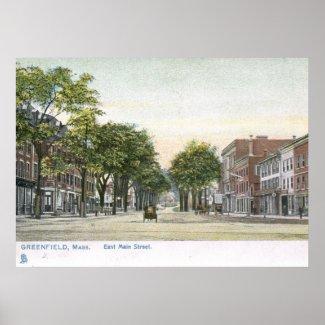 E Main St., Greenfield, Mass. 1906 Vintage print
