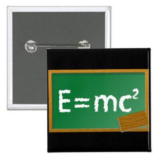 E=mc2 2 Inch Square Button
