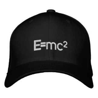 E=mc2   Albert Einstein speed of light squared Embroidered Baseball Cap