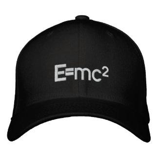 E=mc2   Albert Einstein speed of light squared Embroidered Hats