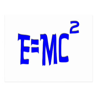 E=MC2 (azul) Tarjeta Postal