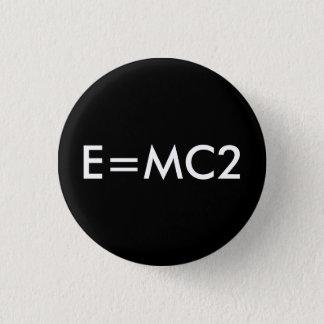 E=MC2 badge - BLACK Button