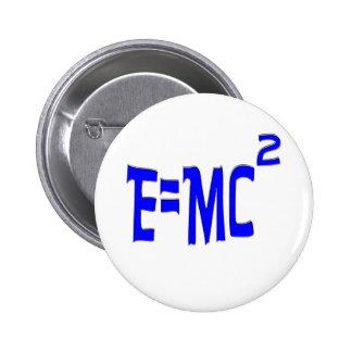 E=MC2 (blue) 2 Inch Round Button