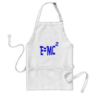 E=MC2 (blue) Adult Apron