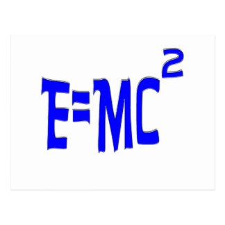 E=MC2 (blue) Postcard