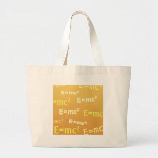E=mc2 Bolsa Tela Grande