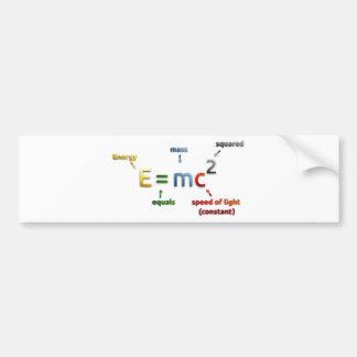 E mc2 bumper sticker