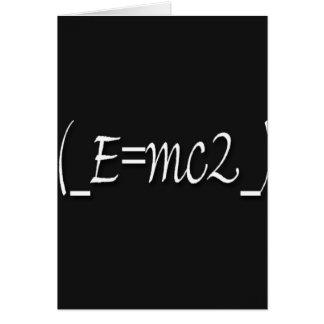(_E=mc2_) copy Card