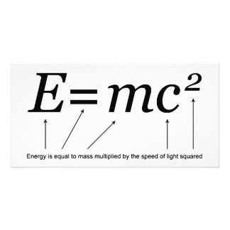 E=MC2 Einstein's Theory of Relativity Card