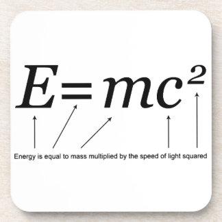 E=MC2 Einstein's Theory of Relativity Drink Coaster