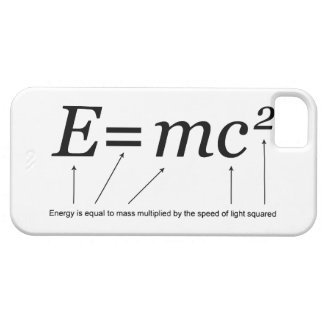 E=MC2 Einstein's Theory of Relativity iPhone 5 Covers