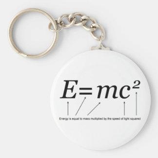 E=MC2 Einstein's Theory of Relativity Keychain