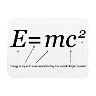 E=MC2 Einstein's Theory of Relativity Magnet