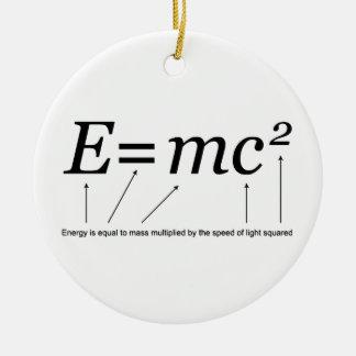 E=MC2 Einstein's Theory of Relativity Christmas Tree Ornaments
