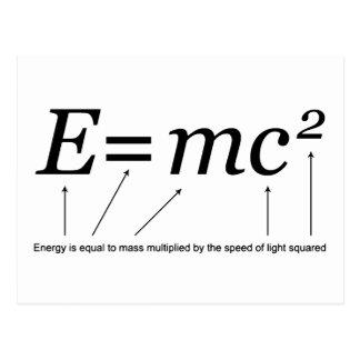 E=MC2 Einstein's Theory of Relativity Postcard