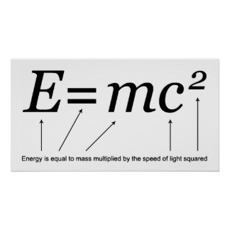 E=MC2 Einstein's Theory of Relativity Poster
