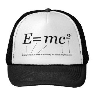 E=MC2 Einstein's Theory of Relativity Trucker Hat