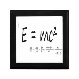 E=mc2 formula physics, relativity theory Einstein Jewelry Box