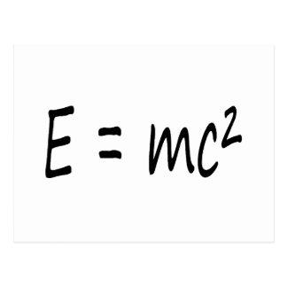 E=mc2 formula, physics relativity theory postcard