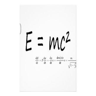 E=mc2 formula, physics relativity theory stationery