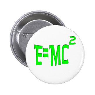 E=MC2 (green) 2 Inch Round Button
