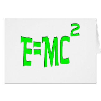 E=MC2 (green) Card