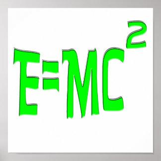 E=MC2 (green) Poster