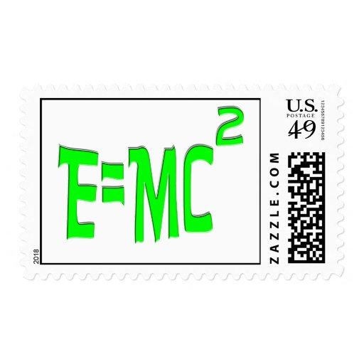 E=MC2 (green) Stamp