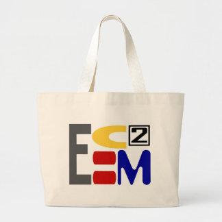 E=MC2 JUMBO TOTE BAG