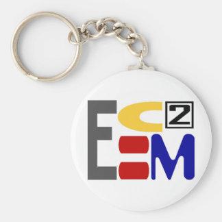 E=MC2 LLAVERO REDONDO TIPO PIN