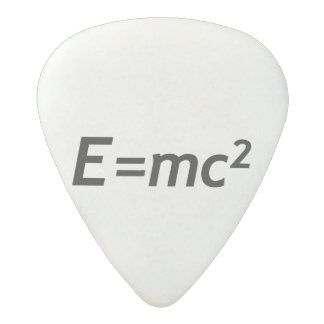 E=mc2 Mass Energy Equivalence Light Speed Physics Acetal Guitar Pick