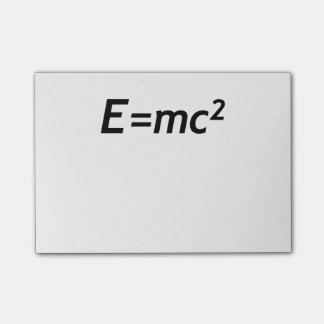 E=mc2 Mass Energy Equivalence Light Speed Physics Post-it Notes