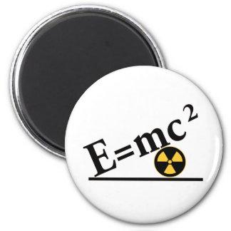 E=mc2 otra vez imán redondo 5 cm