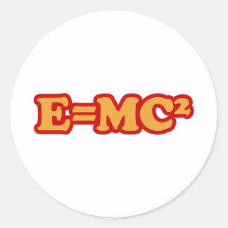 E=MC2 PEGATINA REDONDA