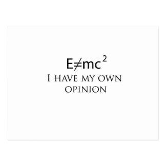 e=mc2 postcard