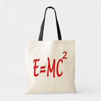 E = MC2 (red) Budget Tote Bag