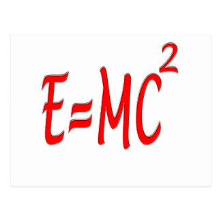 E = MC2 (red) Postcard
