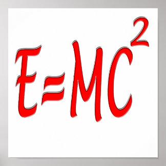 E = MC2 (red) Poster