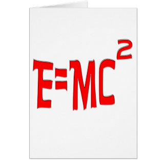 E=MC2 (rojo) Tarjeta De Felicitación