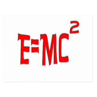 E=MC2 (rojo) Tarjeta Postal