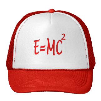 E = MC2 (rojos) Gorras