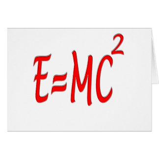 E = MC2 (rojos) Tarjeta De Felicitación