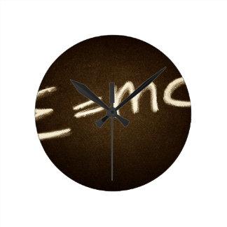 e=mc2... round clock