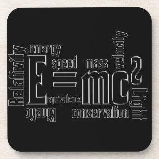 E=MC2 Science Mass Equivalence Einstein Beverage Coaster
