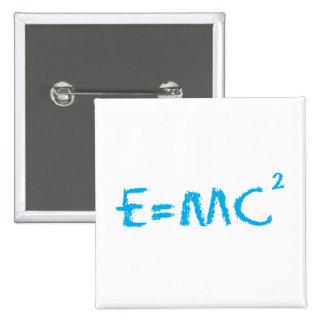 E=MC2 Smart Kid 2 Inch Square Button
