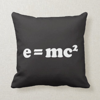 e = mc2 throw pillow