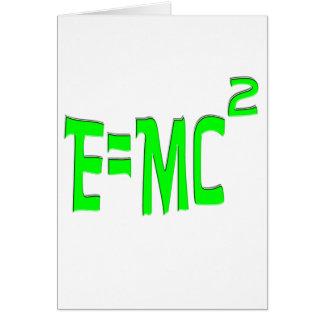 E=MC2 (verde) Tarjeta De Felicitación